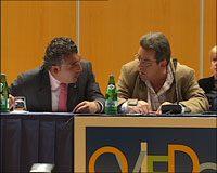 Alberto González y Miguel Cano, en la sesión fallida