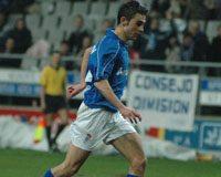 Adrián, en un partido con el Real Oviedo