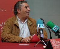 González, en la rueda de prensa