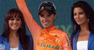 Samuel Sánchez, en el podio como vencedor de etapa (Foto: Unipublic)