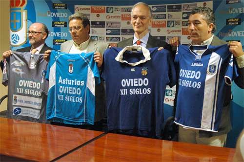 De izquierda a derecha, Amaro Fernández, Miguel Cano, Jaime Martínez y Alberto González, en la presentación de abril