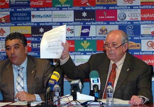 Alberto González y Dámaso Bances en su comparecencia de ayer