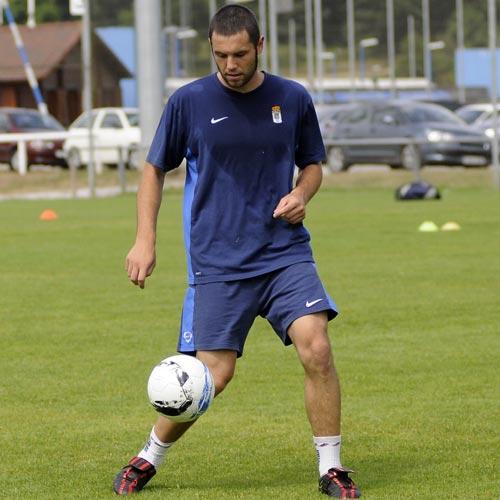 Cervero, con la equipación de entrenamiento de Nike (Foto: Zureda Press)