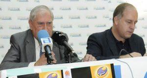Cachero, con Jaime Alberti, en la presentación de la campaña de socios del OCB (Foto: Zureda Press)