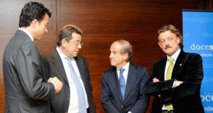 Manu Sánchez, Miguel Cano, García y Prado, ayer en la Zoreda (Foto: Zureda Press)