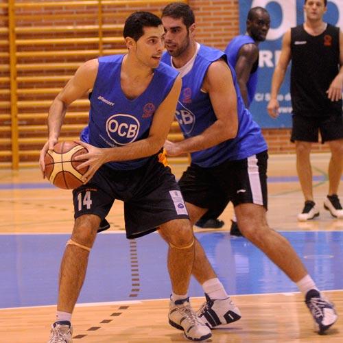 Champi y Javi Candás, en el entrenamiento del jueves (Foto: Zureda Press)