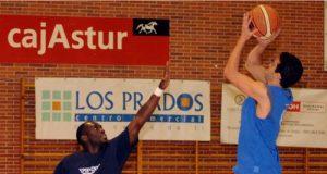 Tony Tate y Rubén Suárez, en el entrenamiento del jueves (Foto: Zureda Press)