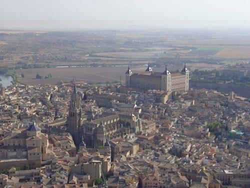 Vista aérea de Toledo (Foto: www.toledo-turismo.com)