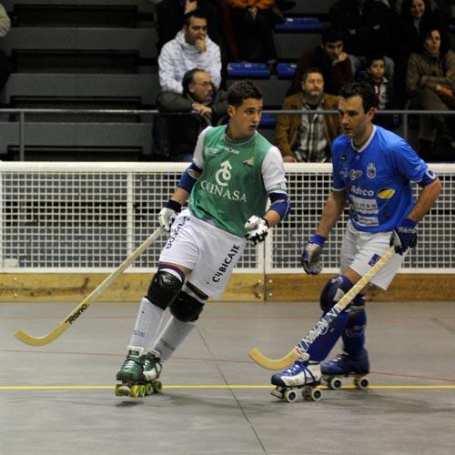 Toni Pérez, en una visita a Oviedo la pasada temporada con el Liceo B (Foto: Zureda Press).