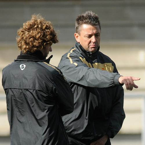José Manuel, en un entrenamiento (Foto: Zureda Press)