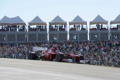 Alonso, en la calificación (Foto: © Ferrari S.p.A.).