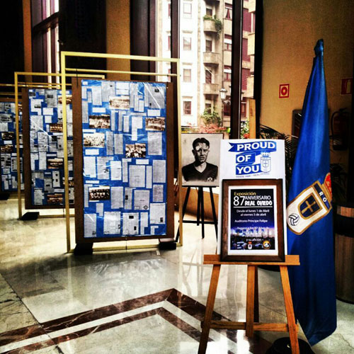 La exposición ya está montada en el auditorio (Foto: Symmachiarii).