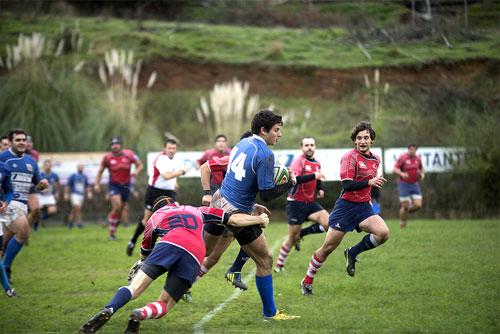Lance del partido del pasado sábado ante el Universitario Bilbao Rugby (Foto: Hugo Álvarez).