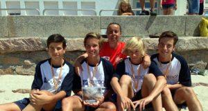 Los carbayones, con sus medallas (Foto: CVO).