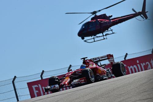 Alonso, en Austin (Foto: © Ferrari S.p.A.).