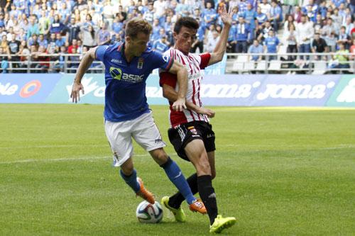 Los oviedistas ejercerán como visitantes en los tres duelos directos mientras que la UD Logroñés jugará en casa todos (Foto: José Luis González).