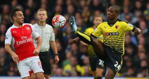 Cazorla, en Watford (Foto: @Arsenal).