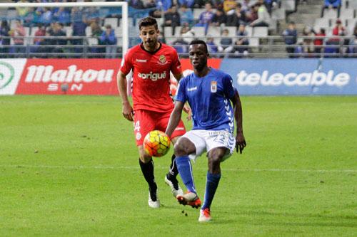 Koné hizo el 1-0 y dedicó su gol a Michu, que le había dicho que marcaría (Foto: Real Oviedo).