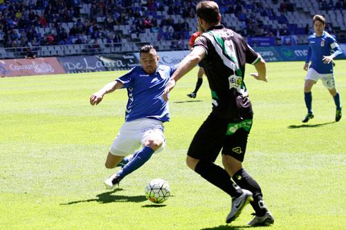 Josete decidió el encuentro con su primer gol de azul (Foto: Real Oviedo).