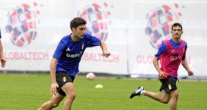 Héctor, en un entrenamiento (Foto: José Luis González)