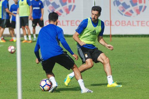 Toché, en un entrenamiento (Foto: Zureda Press)