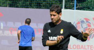Fernando Hierro, durante un entrenamiento